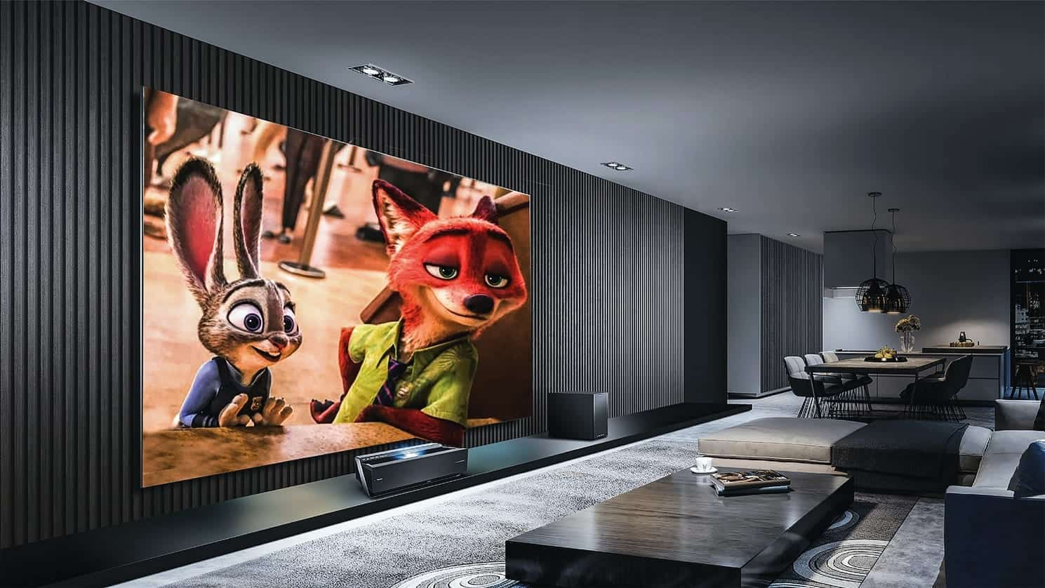 This is a custom home theater installed in dallas texas